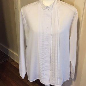 Vintage Yves St Clair white blouse size 14